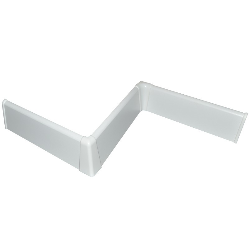 FN Plastové prvky biele oblé 58mm
