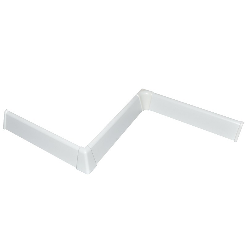 NF plastové prvky biele oblé 38mm